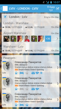 Chat in twitter wall. With the help of a hashtag of the event, messages from Twitter and Facebook, are tightens into twitter wall.